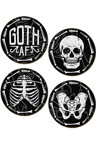 Goth AF Coaster Set | Angel Clothing