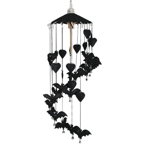 Gothic Black Bat Hanging Decoration Gothic Mobile | Angel Clothing