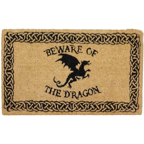 Gothic Door Mat, Beware of the Dragon Doormat 45x75cm | Angel Clothing