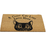 Gothic Door Mat, Crazy Cat Lady Doormat 45x75cm | Angel Clothing