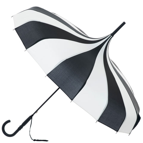 Gothic Umbrella, Black and Cream Gothic Pagoda Umbrella / Parasol | Angel Clothing