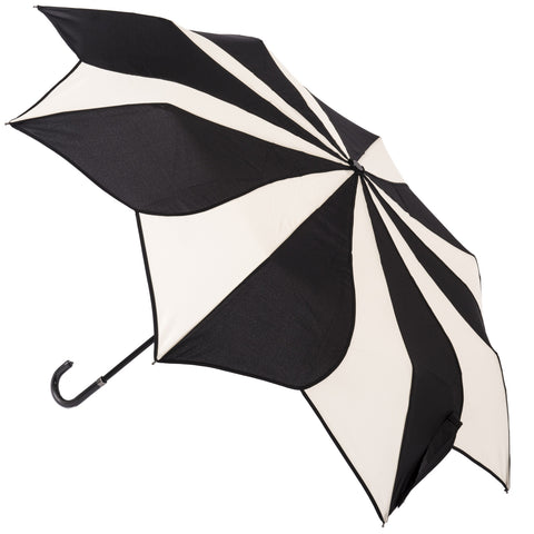 Gothic Umbrella, Black and Cream Swirl Folding Umbrella | Angel Clothing
