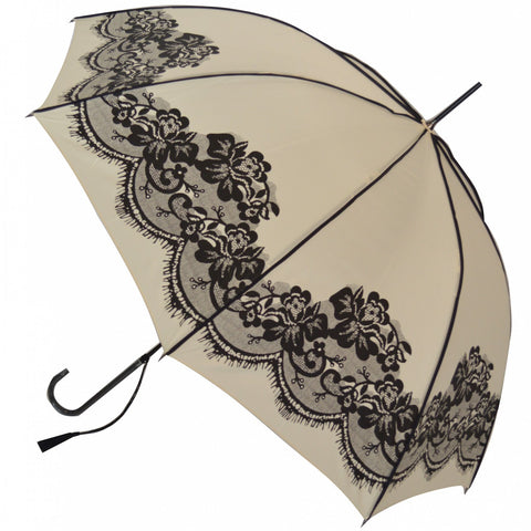 Gothic Umbrella, Cream Vintage Lace Umbrella / Parasol - Angel Clothing