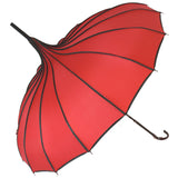 Red Ribbed Pagoda Umbrella / Parasol | Angel Clothing