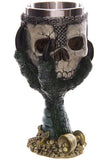 Green Dragons Claw and Warrior Skull Gothic Goblet | Angel Clothing