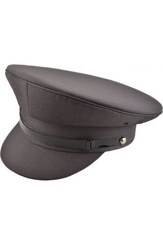 Grey Military Peaked Cap | Angel Clothing