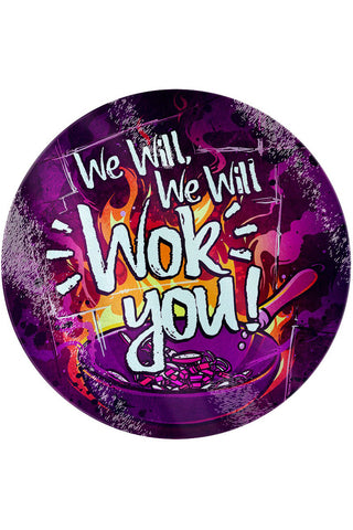 We Will Wok You Glass Chopping Board