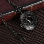 Gunmetal Steampunk Pocket Watch with Watch Chain | Angel Clothing