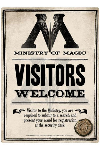 Harry Potter Ministry of Magic Sign | Angel Clothing
