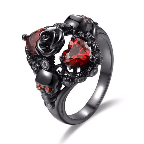 Hearts Rose and Skulls Ring | Angel Clothing