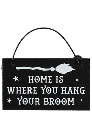 Home is where you Hang Your Broom Mini Sign | Angel Clothing