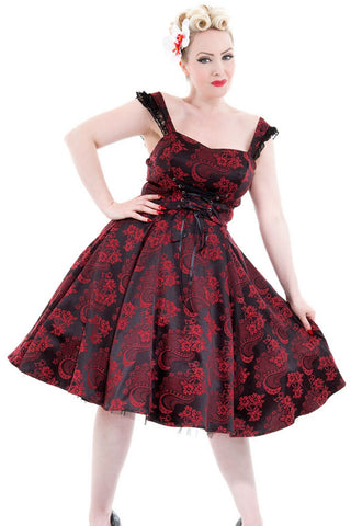 H&R London Red Marie Antoinette Gothic Long Dress | Angel Clothing