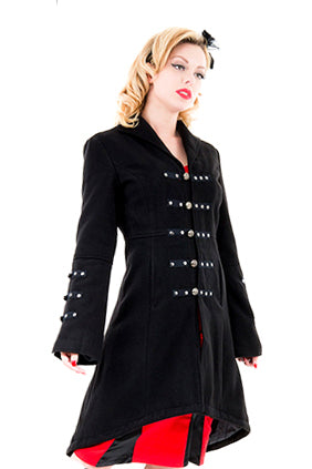 H&R London Reincarnation Coat Black | Angel Clothing