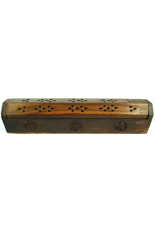 Incense Box Wood Pentagram | Angel Clothing