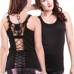 Innocent Cross Lace Vest | Angel Clothing