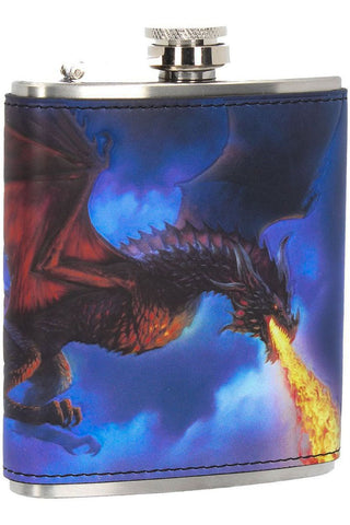 James Ryman Fire in the Sky Dragon Hip Flask | Angel Clothing