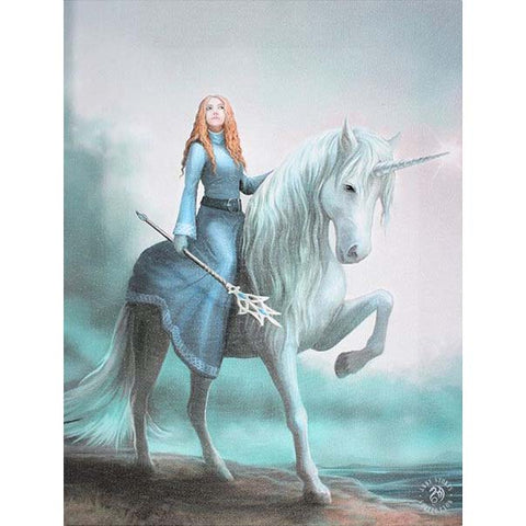 Journey Starts Canvas Picture by Anne Stokes 19cm x 25cm - Angel Clothing