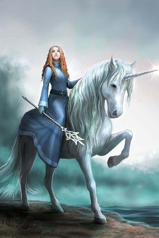 Journeys Start Unicorn Card by Anne Stokes | Angel Clothing