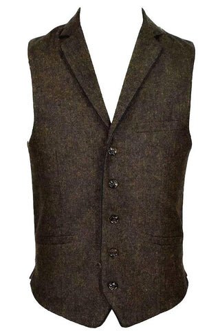 Kaos Brown Tweed Steampunk Waistcoat | Angel Clothing