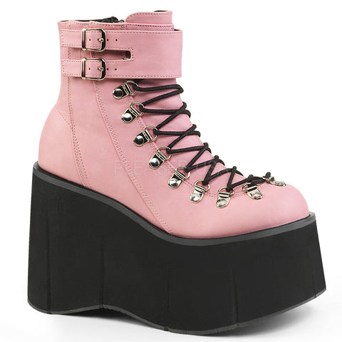 Demonia Pink Vegan Leather Boots KERA-21 | Angel Clothing
