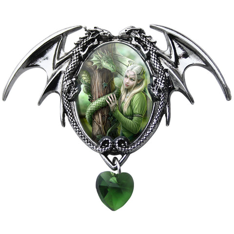 Kindred Spirits Dragon Cameo Pendant Necklace by Anne Stokes EC2 | Angel Clothing