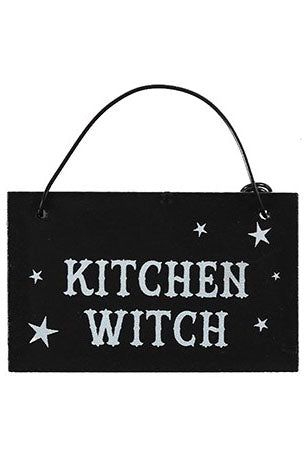 Kitchen Witch Witchy Hanging Mini Sign | Angel Clothing