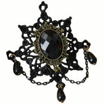 Victorian Gothic Black Lace Brooch | Angel Clothing