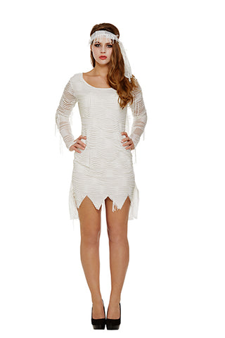 Ladies Mummy Halloween Fancy Dress Costume - Angel Clothing