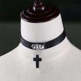 Black Gothic Cross Choker | Angel Clothing