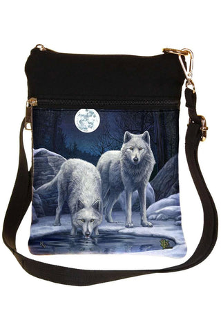 Lisa Parker Warriors Of Winter Wolf Shoulder Bag | Angel Clothing
