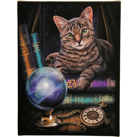 Lisa Parker - Fortune Teller Gothic Cat Picture 19cm x 25cm - Angel Clothing
