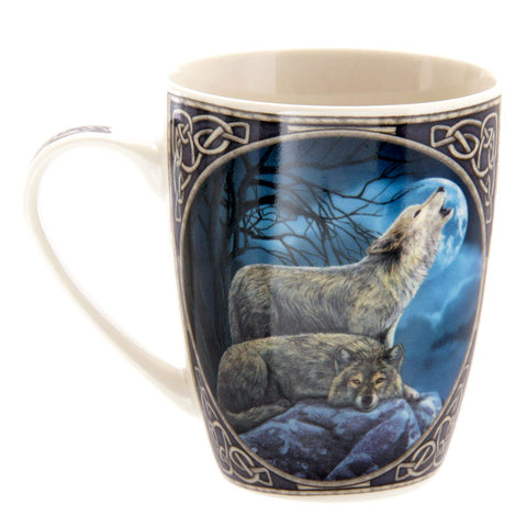 Lisa Parker Howling Wolf Bone China Mug | Angel Clothing