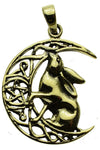 Lisa Parker Moon Gazing Hare Pendant Bronze | Angel Clothing