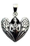 Lisa Parker Praying Angel Pendant Silver | Angel Clothing