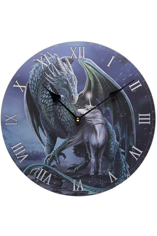 Lisa Parker Protector Dragon and Unicorn Clock | Angel Clothing