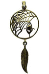 Lisa Parker Spider Feather Dreamcatcher Pendant Bronze | Angel Clothing