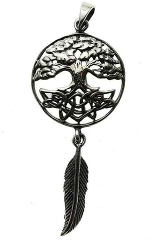 Lisa Parker Tree Feather Dreamcatcher Pendant Silver | Angel Clothing