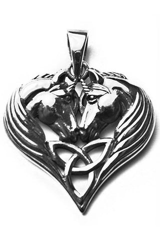 Lisa Parker Unicorn Heart Pendant Silver | Angel Clothing