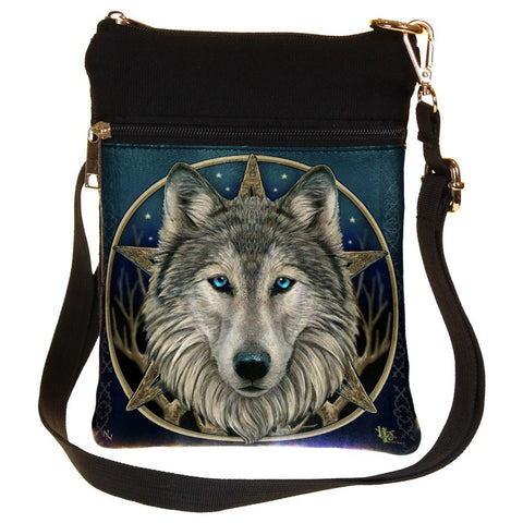 Lisa Parker Wild One Wolf Head Shoulder Bag | Angel Clothing