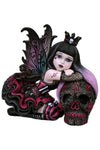 Lolita Little Shadows Fairy Figurine with Day of the Dead Skull | Angel Clothing