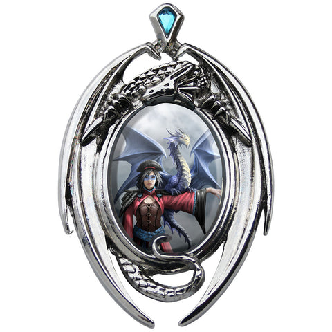 Look To The East Cameo Pendant Necklace by Anne Stokes EC12 | Angel Clothing
