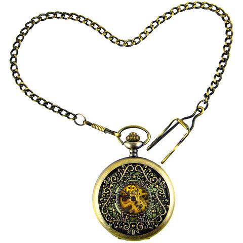 Luminous Triangle Filigree Steampunk Watch Pocket Watch - Angel Clothing
