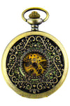 Luminous Triangle Filigree Steampunk Pocket Watch | Angel Clothing