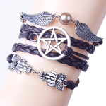 Winged Magic Owl Steampunk Bracelet | Angel Clothing