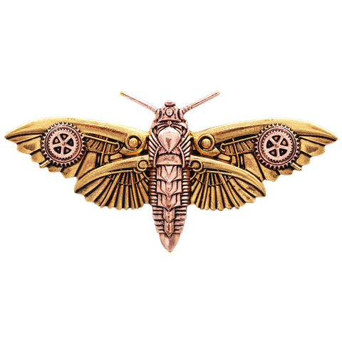 Magradores Moth Brooch. Steampunk Engineerium by Anne Stokes EN6 - Angel Clothing