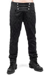 Punk Rave Crescent Trousers K-193 Black | Angel Clothing