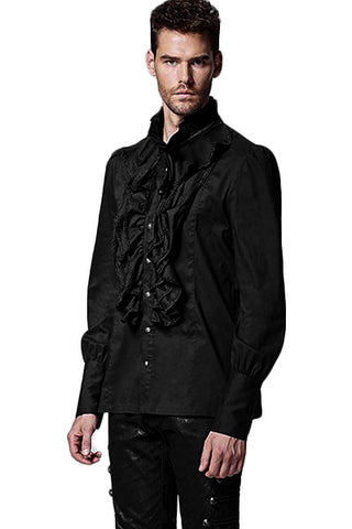 Mens Punk Rave Dante Mens Frilled Gothic Fancy Shirt Y-597 - Angel Clothing