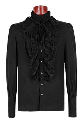Punk Rave Mens Dante Frilled Gothic Fancy Shirt Y-597 | Angel Clothing
