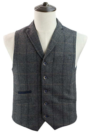 Albert Grey Tweed Steampunk Waistcoat | Angel Clothing