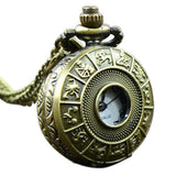 Miniature Zodiac Steampunk Pocket Watch Necklace | Angel Clothing